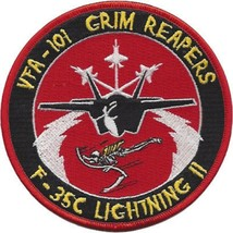 US Navy F-35 Lightning II VFA-101 Grim Reapers Patch NEW!!! - $11.83