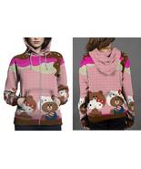 Hello Kitty and Brown Hoodie Zipper Fullprint Women - $50.99+