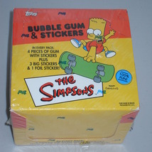 2002 Topps The Simpsons Bubble Gum & Stickers Full Sealed Box 24 Packs - $64.99