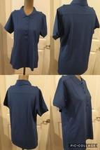 NWOT! Port Authority Ladies Golf Shirt Size Medium Blue Cotton/Polyester... - $5.93