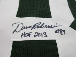DAVE ROBINSON / NFL HALL OF FAME / AUTOGRAPHED GREEN BAY PACKERS CUSTOM JERSEY image 5