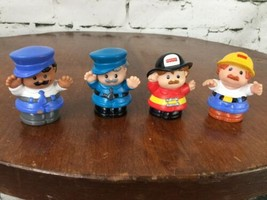 Fisher Price Little People First Responders City Workers Cop Fireman Lot Of 4 - $11.88