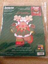 2001 Janlynn Skating Reindeer Wall Hanging Plastic Canvas Kit 140-210 Ch... - $14.85