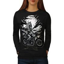 Indian Biker Tee USA Chopper Women Long Sleeve T-shirt - $14.99