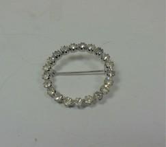 Clear Rhinestone Circle Pin Brooch - $12.86