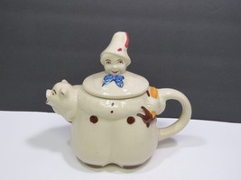 Vintage 1940's Shawnee USA Tom The Piper's Son and Pig Teapot Pottery  - $39.59