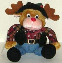 1/2 Price! Animated Singing Christmas Cowboy Moose Reindeer Santa Claus ... - $6.00