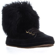 UGG Australia Antoine Fur High Top Sneakers, Black, 6.5 US / 37.5 EU - $83.51