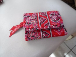 Vera Bradley trifold wallet in FRankly Scarlet retired pattern  - $13.50