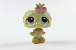 Littlest Pet Shop #147 Cream & Tan Baby Owl with Teal Eyes and Pink Bow  LPS - $6.43