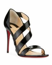 Christian Louboutin World Copine Asymmetrical Sandals Black Pumps Shoes 39 - $479.99
