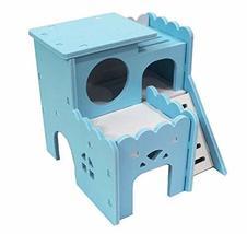 Panda Legends DIY Assembly Hamster Wooden Habitat House Hideout Hut for ... - $23.06