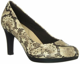 Womens Clarks Adriel Viola Dress Pump - Taupe Snake, Size 7.5 M US - $89.99