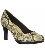 Womens Clarks Adriel Viola Dress Pump - Taupe Snake, Size 7.5 M US - $89.99