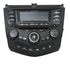 2004-2007 Honda Accord AM FM Radio 6 Disc CD Player w Climate Controls Face 7BK1 - $296.99