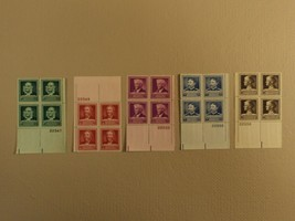 USPS Scott 874-78 1940 American Scientists Lot Of 5 Plate Block 20 Stamp... - $86.16