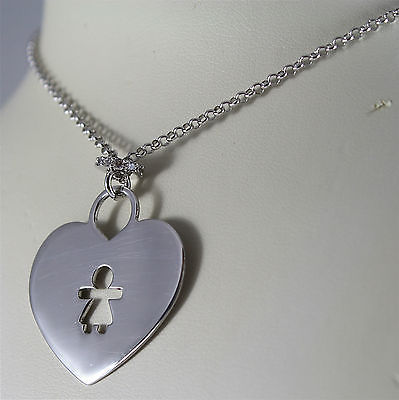 "Aquaforte Necklace, Silver 925 Rhodium, Collection ""Hearts Juliet"