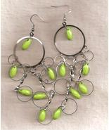 Green Earrings Set  With Silver - $6.99
