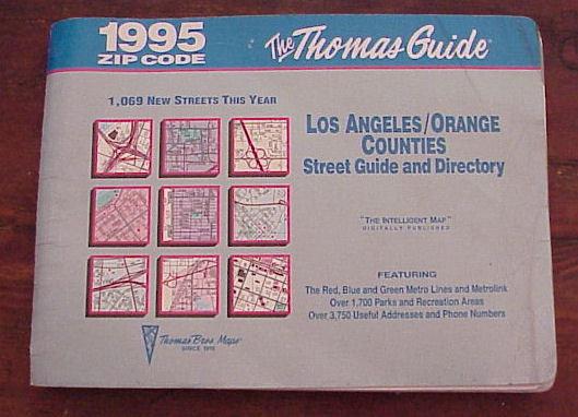 1995 Thomas Guide Orange Los Angeles Counties Zip Codes Bonanza
