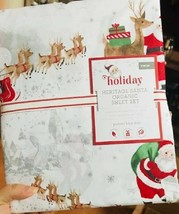 Pottery Barn Kids Heritage Santa Sheet Set Twin Christmas Holiday - $69.00
