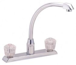 ELKAY LKDA2440 chrome two handle washerless kitchen faucet NEW FREE SHIP... - $89.78