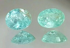 Natural ParaibaTourmaline Pair Neon Blue from Mozambique, see video - $330.00
