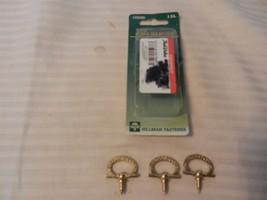 "Hillman Floral Ring Hanger 3/4"" Polished Brass Package of 3 #122220 - $3.95"