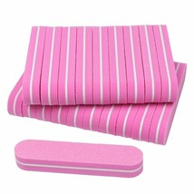 Nail Files 100/180 Pink Sponge Lime A Ongle 20pcs Double Sided Trimmer B... - $6.82