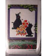 """Pattern Scottie & Flowers """"Garden Party"""" Wall Hanging 40.5""""  x 44.5"""" - $5.69"""