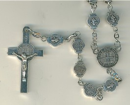 St. Benedict Medals as Beads - Rosary with Case image 2