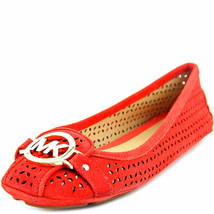 Michael Kors Fulton Moccasin Flats Shoes Coral Reef Red 7M MSRP 110 New - $76.22