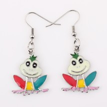 Bonsny frog earrings drop alloy animal new  2015 fashion jewelry for wom... - $9.68