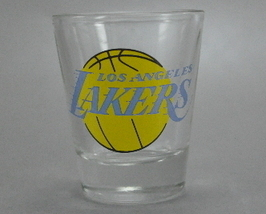 Los Angeles Lakers Clear Shot glass team logo - $5.00