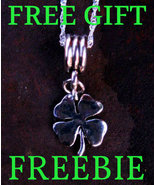 FREEBIE! FREE ITEM 3x Celtic Spell Cast Four Leaf Clover Charm Good Luck Fortune - Freebie