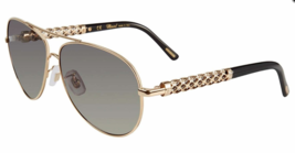 New Chopard SCHB66S Sunglasses Shiny Rose Gold 300 100% Authentic - $188.09