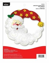 Bucilla 'Cresent Moon Santa Wreath' Felt Applique Embroidery Kit - 86945E - $31.99