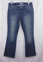 Levis 529 boot cut Sz 9 blue wash distressed stretch - $11.98