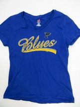 St Louis Blues Hockey NHL V-Neck T-Shirt Women'S Size S - $10.25