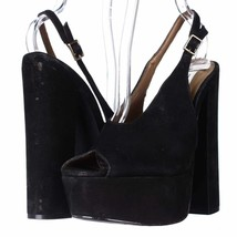 Steve Madden Claay Platform Slingback Sandals, Black, 7.5 US Display - $35.51