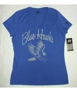 Dickinson State University Blue Hawks DSU T-Shirt V-Neck Short Sleeve SMALL - $9.85