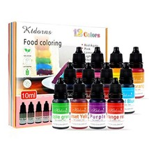 Food Coloring - 12 Color cake food coloring liquid Variety Kit for Baking, Decor