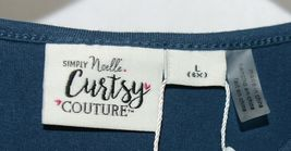 Simply Noelle Curtsy Couture Girls Cutout Long Sleeve Shirt Misty Blue Large 6X image 4