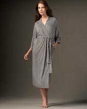 NWT $180 New Natori Gray Robe Womens Long Very Soft Solid 2X Plus Heathe... - $117.00