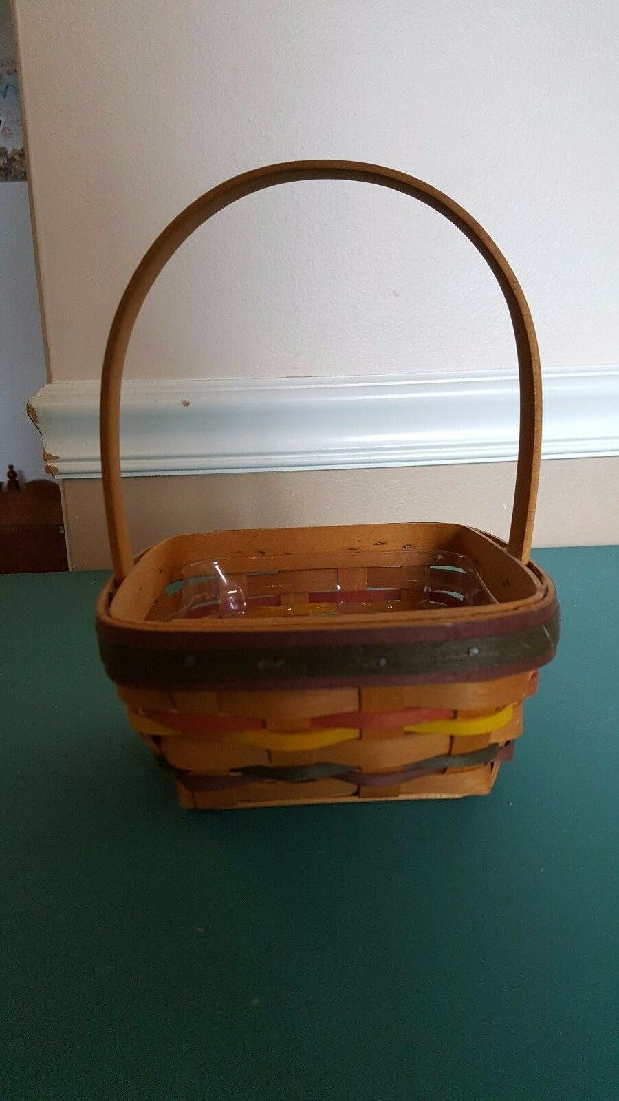 Primary image for Small Square Longaberger Basket with plastic liner - 1998