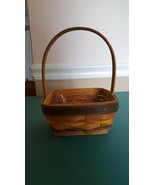 Small Square Longaberger Basket with plastic liner - 1998 - $5.52