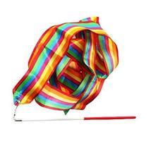 PANDA SUPERSTORE 2 Pcs Colorful Children Dance Streamers Rhythmic Gymnastics Rib