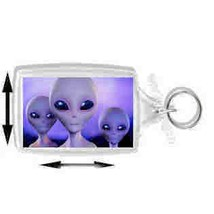 alien trio handmade in uk from uk made parts keyring, keyfob