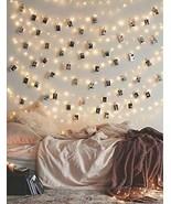 Photo Clip String Lights Fairy Lights-Dorm Bedroom Wall Decor Wedding De... - $18.96
