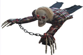 Scary Halloween Decorations Animated Crawling Skeleton Party Decor Prop ... - ₨2,941.52 INR