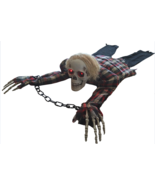 Scary Halloween Decorations Animated Crawling Skeleton Party Decor Prop ... - $39.99